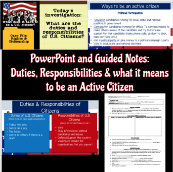 Duties and Responsibilities of U.S. Citizens Lesson & Scavenger Hunt
