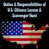 Duties and Responsibilities of U.S. Citizens Lesson & Scav