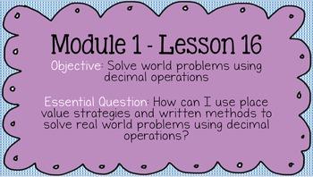 Duval Math (Engage NY, Eureka Math) Grade 5 Math Module 1 PowerPoint Lessons