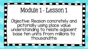 Duval Math (Engage NY, Eureka Math) Grade 5 Math Module 1 Lesson 1 PowerPoint