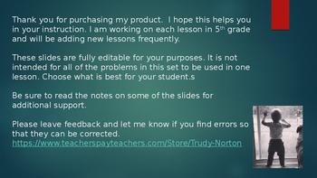 Duval Math, Engage NY, Eureka Math Grade 5 Module 1 Lesson 11