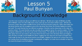 Duval Reads (Engage NY) Module 1 Lesson 5 (Paul Bunyan)