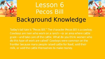 Duval Reads (Engage NY) Module 1 Lesson 6 (Pecos Bill)