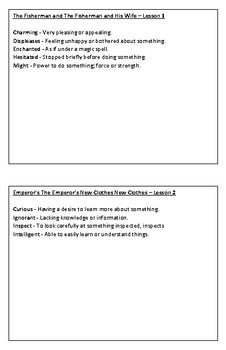 Duval Reads Vocabulary Module 1 Booklet - Second Grade