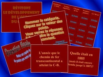 Développement de l'ouest - Jeu PowerPoint