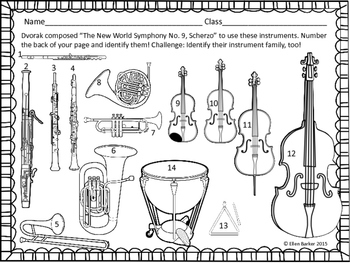 Dvorak New World Symphony Worksheets