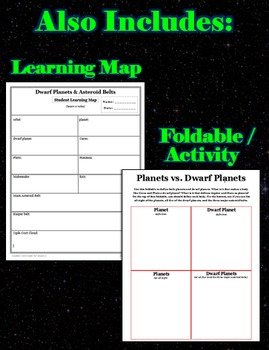 Dwarf Planets & Asteroid Belts - Lesson and Powerpoint