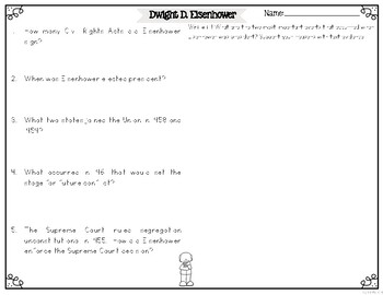 Dwight D. Eisenhower Differentiated Reading Passages & Questions