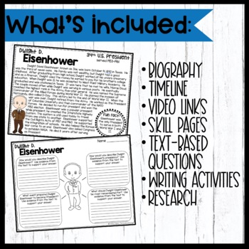 Dwight Eisenhower: Biography, Timeline, Graphic Organizers, Text-based Question