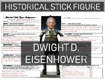 Dwight Eisenhower Historical Stick Figure (Mini-biography)