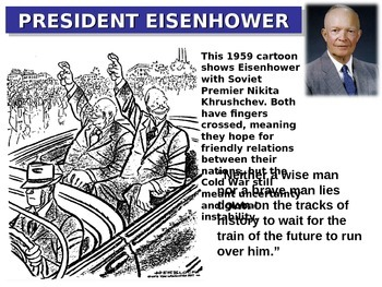Dwight Eisenhower: quotes, cartoons, foreign/domestic legacy PPT & handout
