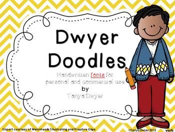 Dwyer Doodles {Fonts}