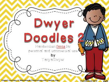 Dwyer Doodles {Fonts~Set 2}
