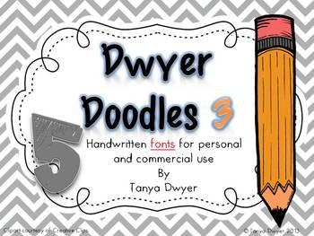 Dwyer Doodles {Fonts}~Set 3