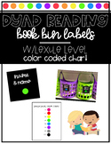 Dyad Reading Book Bin Labels | Lexile Level Color Coded Ch