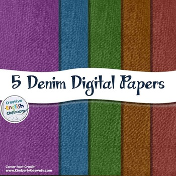 Dyed Denim Digital Papers