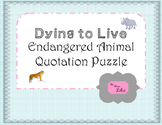 Dying to Live:  An Endangered Animal Brainteaser