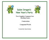 Dylan Dragon New Year Theme Two Games for Contractions and Compound Words