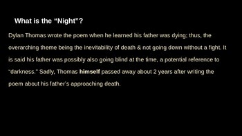 """Dylan Thomas: """"Do Not Go Gentle Into That Good Night"""""""