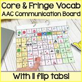 Dynamic AAC Core Vocabulary Communication Board