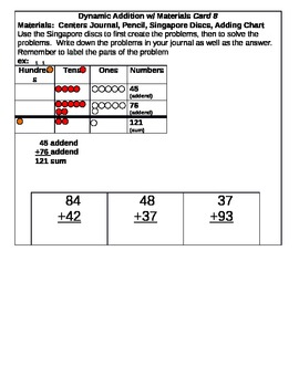 Dynamic Addition Center Cards