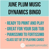 Dynamic Bingo for Music / Piano Class. Perfect for Sub Tub