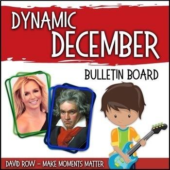 Dynamic December -- Music Bulletin Board Set
