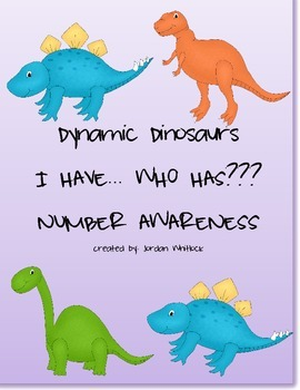 """Dynamic Dinosaurs """"I have, Who has..."""" Number Recognition"""
