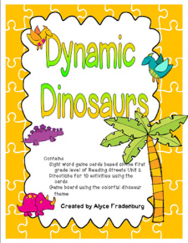 Dynamic Dinosaurs Pearson Reading Street Sight Words Grade
