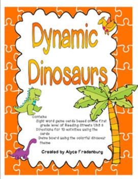 Dynamic Dinosaurs Pearson Reading Street Sight Words Grade 1 unit 3