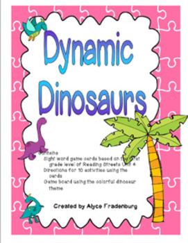 Dynamic Dinosaurs Pearson Reading Streets Sight Words Grade 1 unit 4