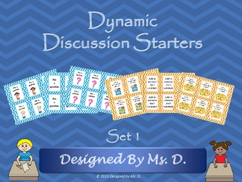 Dynamic Discussion Starters - Set 1 #ThankfulforTeachers