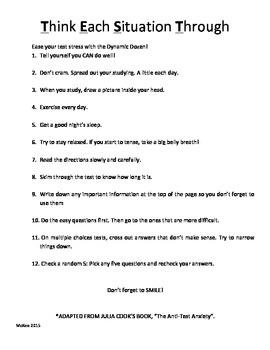 Dynamic Dozen Cheat Sheet