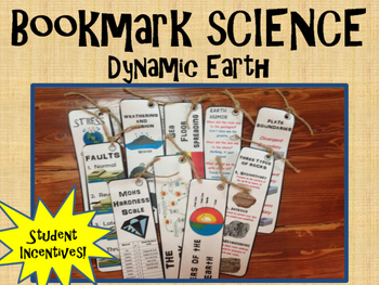 Science Bookmarks:  Dynamic Earth
