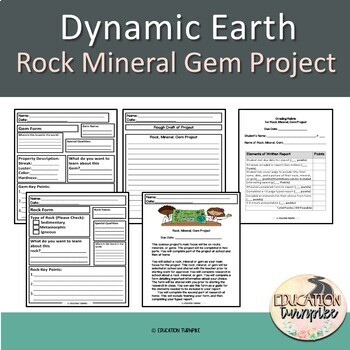 Dynamic Earth Project description, outline, and rubric