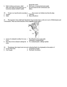Dynamic Earth Unit Test: Earthquakes, Earth's Layers, etc.