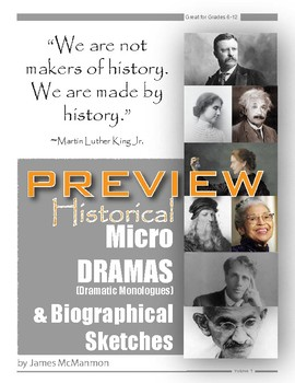 Monologues 17 History & 17 Herstory Micro-Dramas & Biographical Sketches Sample