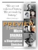 Monologues 17 History & 17 Herstory Micro-Dramas & Biograp