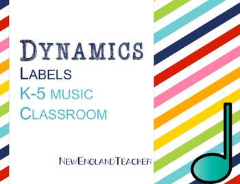 Dynamic Labels for Elementary Music Decor or Bulletin Board Stripes