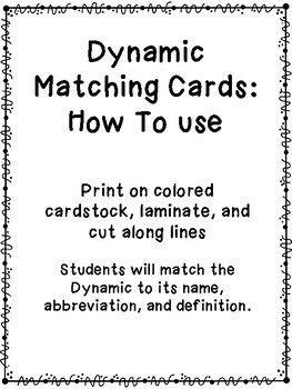 Dynamic Matching Cards