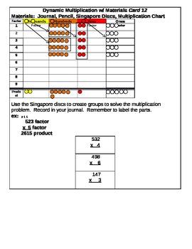 Dynamic Multiplication Center Cards