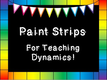 Paint Strip Manipulatives