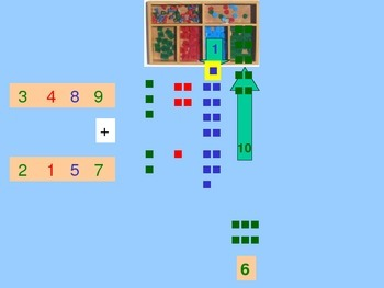 Dynamic Regrouping Addition with the Montessori Stamp Game