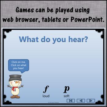 Dynamic Snowman - Interactive Music Game: loud or soft, crescendo or decrescendo