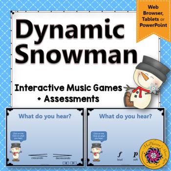 Dynamic Snowman - Interactive Music Game: loud or soft, cr