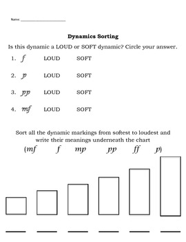 Dynamic Sorting Worksheet