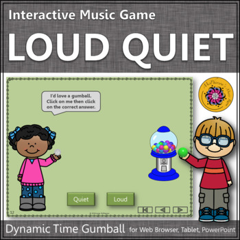 Dynamics Time with Loud and Quiet Interactive Music Game (gumball)