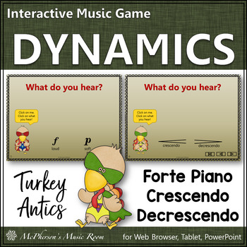Dynamic Turkey - Interactive Music Game (loud or soft, cre
