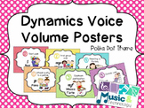 Dynamic Voice Volume Posters- Polka Dot Background