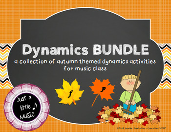 Dynamics BUNDLE ~ 9 Autumn themed lessons, activities & games for volume